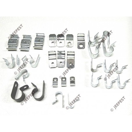 kit clamps fixing harness wiring 6v gpw