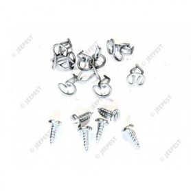 KIT FIXING WIDSHIELD COWL SEAL WOF (6SCREW+11CLIPS)