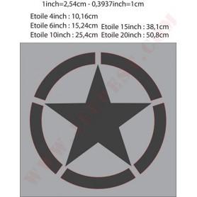 """POCHOIR """"ETOILE CERCLE 15 IN"""" MASQUE AUTOCOLLANT"""