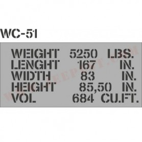 "POCHOIR ""SHIPPING WC51"" MASQUE AUTOCOLLANT"