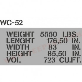 "POCHOIR ""SHIPPING WC52"" MASQUE AUTOCOLLANT"