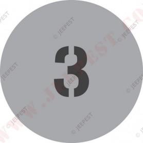 """POCHOIR """"3"""" PLAQUE TONNAGE MASQUE AUTOCOLLANT"""
