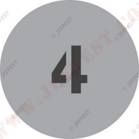 """POCHOIR """"4"""" PLAQUE TONNAGE MASQUE AUTOCOLLANT"""