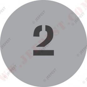 """POCHOIR """"2"""" PLAQUE TONNAGE MASQUE AUTOCOLLANT"""