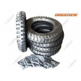 TIRES + TUBES 600X16 MILITARY DEESTONE (SET OF 5) SALES