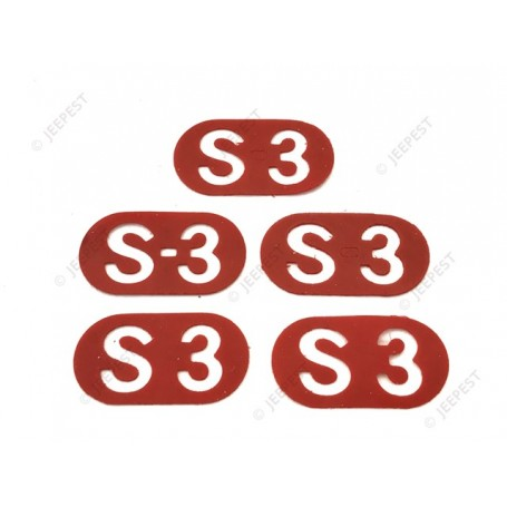 STICKERS RED S3 (SET)