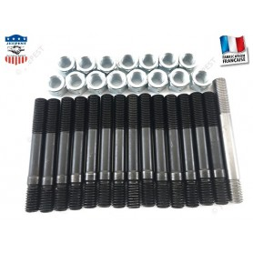 "KIT STUDS+NUTS HEAD ENGINE JEEP QUALITY ""MADE IN FRANCE"""