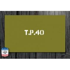 """POCHOIR """"TP 40"""" MASQUE AUTOCOLLANT"""