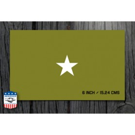 STAR 6 INCH STENCIL STICKER