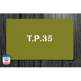 """POCHOIR """"TP 35"""" MASQUE AUTOCOLLANT"""