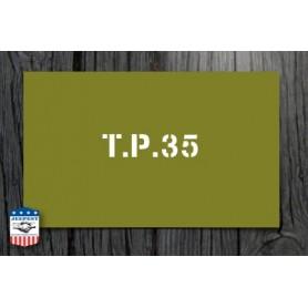 STENCIL TIRE PRESSURE 35 LBS