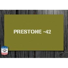STENCIL PRESTONE 42/43/44