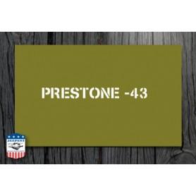 """STENCIL """"PRESTONE 43"""" STICKER"""