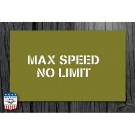 "STENCIL ""MAX SPEED 40 MPH"" STICKER"