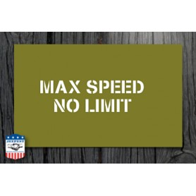 "STENCIL ""MAX SPEED 40 MPH"" STICKER"