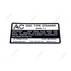STICKER AC FUEL FILTER