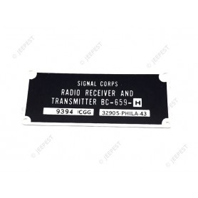 PLATE DATA RADIO BC659
