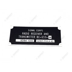 PLAQUE IDENTIFICATION RADIO BC659