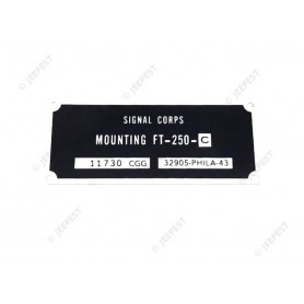 PLATE DATA RADIO MOUNTING FT-250