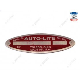 PLATE DATA STARTER AUTOLITE 6VOLTS