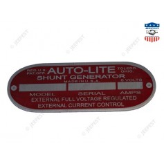 PLATE DATA GENERATOR AUTOLITE 6VOLTS
