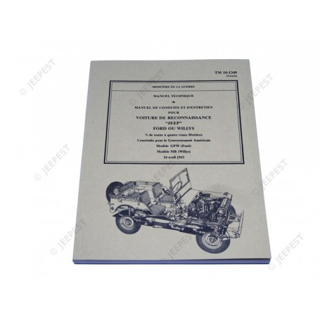 BOOKS TECHNICAL JEEP/GPW FRENCH