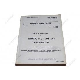 LIST SPARES PARTS DODGE 6X6 G-507