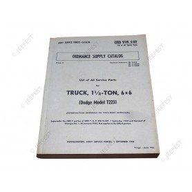 LIVRE CATALOGUE PIECES DODGE 6X6 G-507