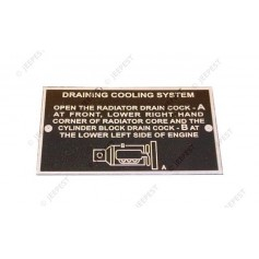 PLAQUE IDENTIFICATION DRAINING COOLING