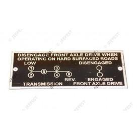 PLATE DATA TRANSMISSION 4X4