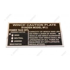 PLAQUE IDENTIFICATION WINCH
