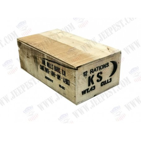 BOX RATION KS WOOD WITH COVER NET
