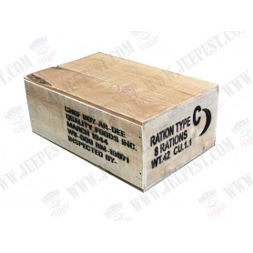 BOX RATION C WOOD WITH COVER NET