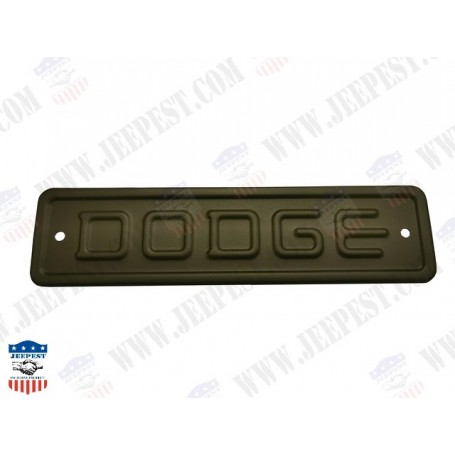 PLAQUE DODGE DE NEZ OU CAPOT