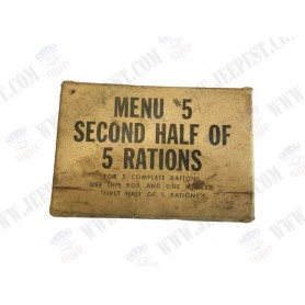 CARDBOARD MENU 5 SECOND HALF