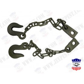 CHAIN+HOOK TRAILER SAFETY SET NET