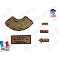 STICKER FRAM OIL FILTER (SET OF 5)