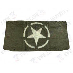 COVER WINDSHIELD OD HEAVY CANVAS WITH STAR