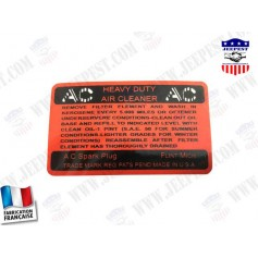 AUTOCOLLANT FILTRE A AIR AC EARLY