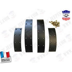 """GARNITURES MACHOIRE FREIN (2 ROUES) JEEP """"MADE IN FRANCE"""""""