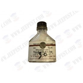 BOTTLE OF SACCHARIN SOLUBLE SQUIBB