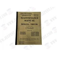 BOOK MAINTENANCE MANUAL TM-10-1513 JEEP MB