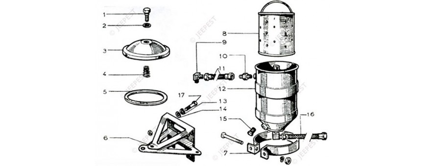ENGINE OIL FILTER MB GPW M201